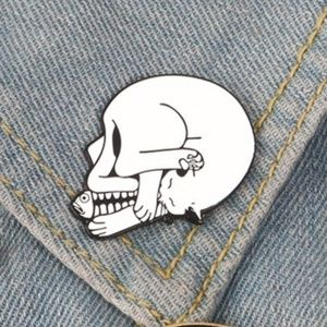 Accessories - Cat/Skeleton Enamel Pin